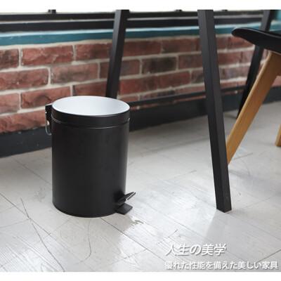 12L容量 中號 腳踏緩降垃圾桶-有蓋垃圾桶