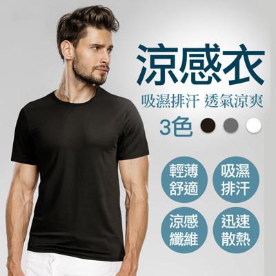 【阿莎&布魯日式生活館】型男吸濕排汗機能涼感衣