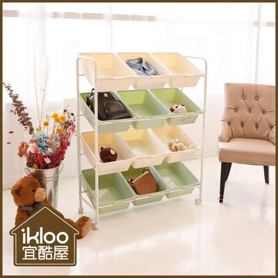 【ikloo】春夏限定輕色12格玩具車