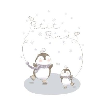 韓國Petit Bird竹纖維嬰幼兒防水保潔床墊—企鵝家族