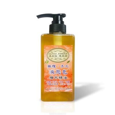 【雅典娜】超強抗菌X歐盟認證<檜木精油橄欖手工液態皂>500ml