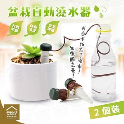 引水盆栽自動澆水器 2個裝 植物花卉滲水器 懶人澆花器施肥器滴灌器