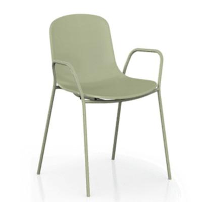 【ONE 生活】漢斯特單椅-平面椅背(綠/紅/白/黑)