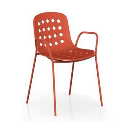 【ONE 生活】維恩單椅-有孔椅背(紅/白/綠/黑)