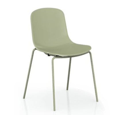 【ONE 生活】維卡單椅-平面椅背(綠/紅/白/黑)