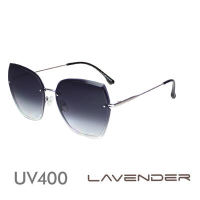 Lavender偏光片太陽眼鏡 鑽石切割鏡面-漸層灰紫H7149-C2