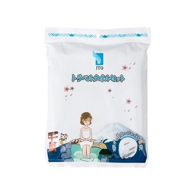 日本 ITO~浴巾旅行套裝(2條毛巾+1條浴巾)  浴巾/毛巾/旅行