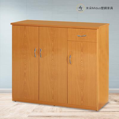 【米朵Miduo】3.2尺三門一抽塑鋼鞋櫃 防水塑鋼家具