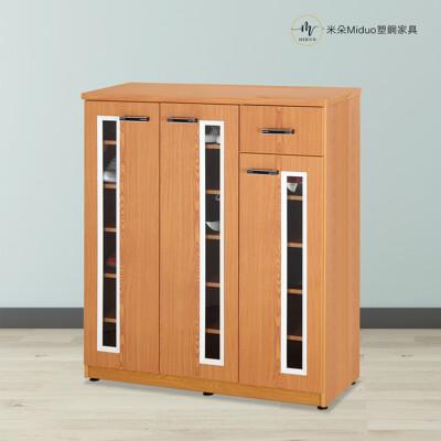 【米朵Miduo】4尺塑鋼三門一抽鞋櫃 防水塑鋼家具