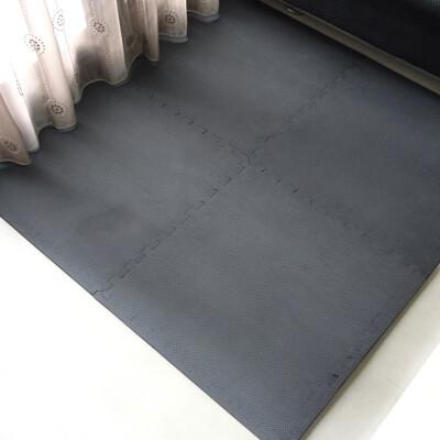 【家購】台灣製經典素面62CM大巧拼地墊-附贈邊條-灰色【CP046】遊戲地墊 巧拼 地墊 睡墊