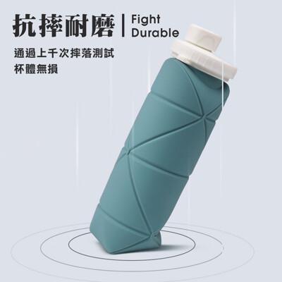 現貨 環保矽膠水壺 摺疊水壺 壓縮運動水壺 耐摔 可折疊矽膠水壺 戶外運動外出旅行水壺 折疊水壺