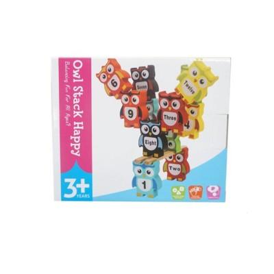 貓頭鷹疊疊樂 木製創意 貓頭鷹平衡積木玩具 益智積木【YF14521】