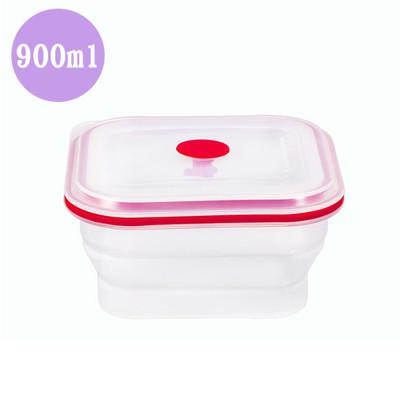 方形便攜矽膠折疊保鮮碗-900ml