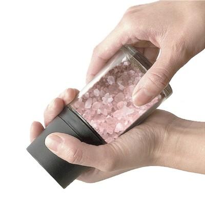 日本ASVEL陶瓷刀刃140ml【岩鹽】研磨玻璃罐(黑色)