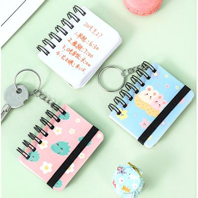 【現貨】創意手賬本迷你鑰匙鏈線圈小本 手抄本學生筆記本隨身攜帶本 小冊子 鑰匙圈