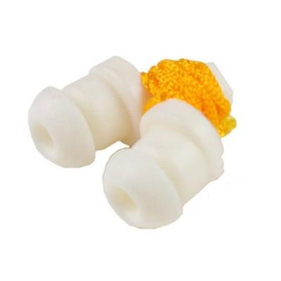 台灣耳塞(1包) 藍鷹牌 草菇造型耳塞(有線) 隔音效果佳 軟質PVC材質 帶線耳塞 可清洗 清潔