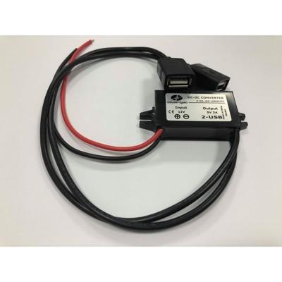 3A電源USB模塊 12V轉5V USB 機車USB充電轉換器 DC-DC電源轉換器 12V轉USB
