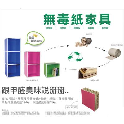 無毒紙傢俱三格櫃 紙製3格櫃 置物櫃 收納櫃 台灣製造 符合歐盟國際規範 超環保超無毒超輕量超簡單