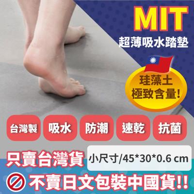 台灣製超薄可水洗防霉抗菌珪藻土地墊(L)