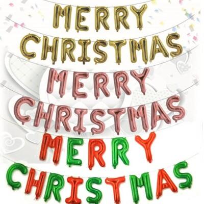 16吋聖誕快樂英文字母氣球