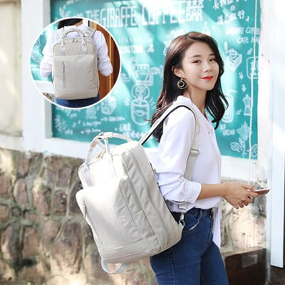 Raymii 休閒雙肩潮流筆電包電腦背包 筆電包 女生 女性 充電背包 電腦包