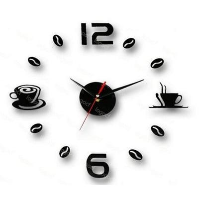 《壓克力掛鐘》數字12-6 +休閒咖啡  長保固