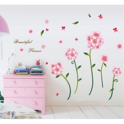 【壁貼之王】花草壁牆貼《浪漫花朵AA-7245》升級版++ 150*高95CM