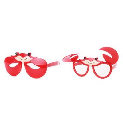 ☆派對達人☆派對眼鏡/搞笑眼鏡/爆笑眼鏡/特殊造型眼鏡/螃蟹服裝/螃蟹裝扮/螃蟹眼鏡