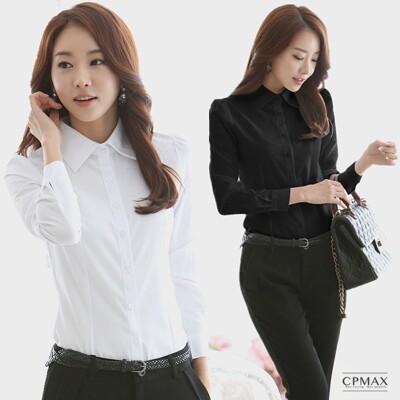 CPMAX 女襯衫 雪紡襯衫 女上班襯衫 女長袖襯衫 女商務襯衫 面試襯衫 OL襯衫W06