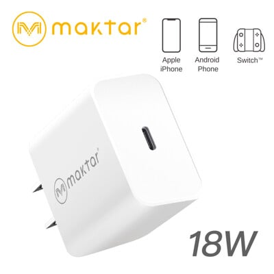 Maktar 18W USB-C 充電器(可支援雙系統)極速手機充電器