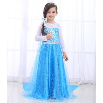 【送皇冠配件】萬聖節冰雪 愛公主 兒童禮服 莎洋裝