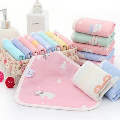 【STAR BABY】純綿柔軟嬰幼兒水洗六層紗 布方巾 六件組