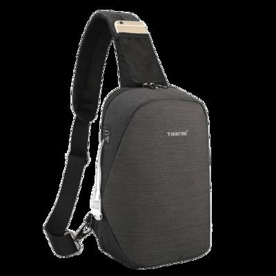 側背包 時尚簡約牛津布胸包 [T8061] 後背包斜背包 槍包 防潑水 學生包包 有耳機孔