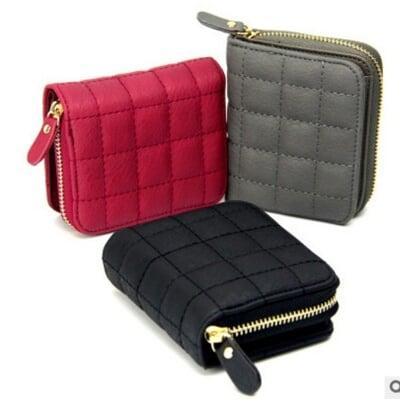 【ahappy172】韓系時尚皮夾 零錢包 明星款錢包  拉鏈短夾 時尚可愛拉鍊短夾
