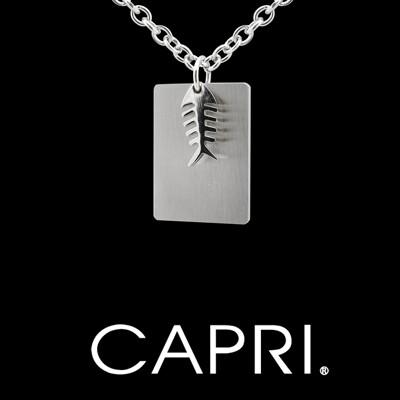 『CAPRI』魚骨316L醫療鋼 項鍊