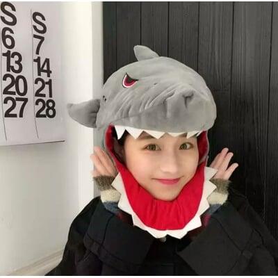 鯊魚頭套帽 大白鯊 萬聖節 聖誕節服裝配件 cosplay角色扮演 網紅拍照道具  老蕭