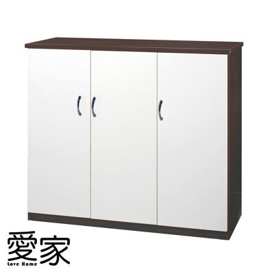 【愛家】防水塑鋼三門鞋櫃-寬96x深37x高112cm(七色可選)