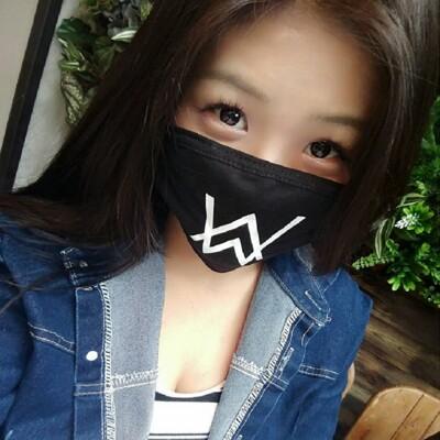 24H台灣出貨Alan Walker 防霾 可水洗 口罩 黑色 純棉口罩 黑色口罩 印花口罩 造型口