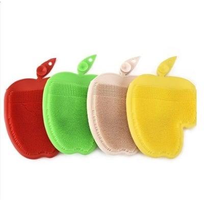 多功能清潔手套【CH97】 矽膠洗碗刷 百潔布不沾油清洗刷 多用途食物清潔刷隔熱手套