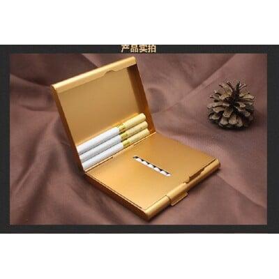 艾比讚 鋁合金煙盒【L846】鋁製超薄對開煙盒  20支裝 創意金屬煙盒 男士禮品 交換禮物