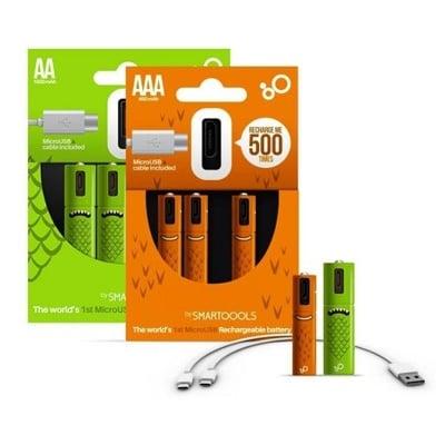 艾比讚 4顆裝【 L142】環保USB可重複充電電池 3號 4號 USB充電電池 1.2V鎳氫電池