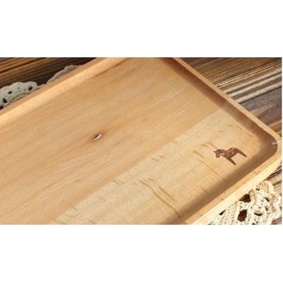 【北歐木馬餐盤CH】北歐木馬zakka雜貨muji風進口櫸木日式托盤方形茶盤餐盤