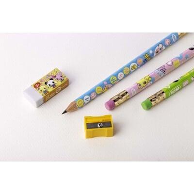 利百代LIBERTY CB-205 可愛家族抗菌學前皮頭鉛筆 3支盒裝