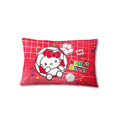【享夢城堡】中枕63x45cm-HELLO KITTY 瘋足球-紅
