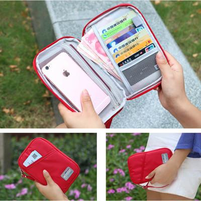 馬卡龍多功能旅行證件護照收納包