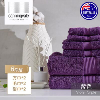 埃及棉皇家毛巾6件組 紫色