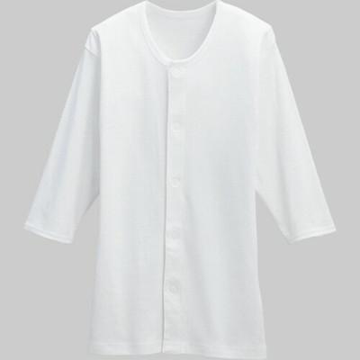 【Kawamoto】日本進口 前開自粘式八分袖內衣(男女適用)