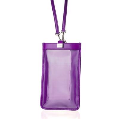 【LIEVO】 TOUCH - 真皮斜背手機護照包(深紫紅)