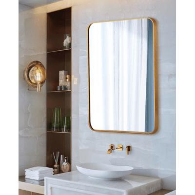 鏡子 50*70CM 裝飾鏡 化妝鏡 北歐方形玄關裝飾鏡 美式浴室鏡歐式衛生間壁掛鏡臥室梳妝鏡化妝鏡