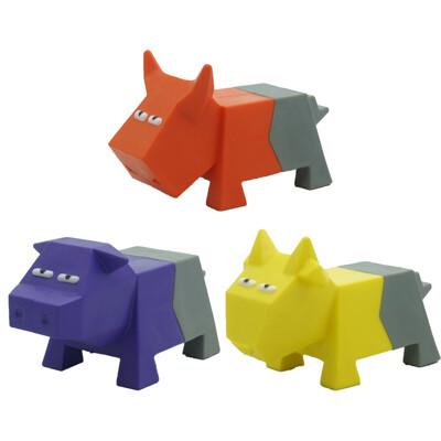 FOFOS 兩只福狸 可愛農場 橡膠發聲玩具寵物狗狗磨牙玩具動物造型